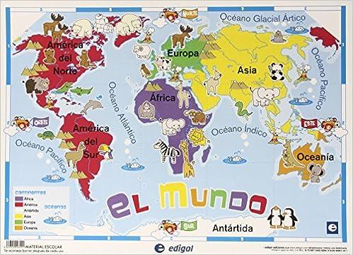 MAPA INFANTIL MAPAMUNDI SOBREMESA Amazoncouk 8436029293000