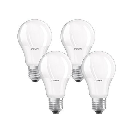Osram Lámpara LED clásica con base en forma de bombilla, plástico, blanco cálido,