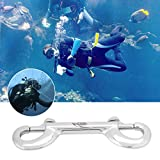 2pcs Double Ended Bolt Snap Hook Clip Heavy Duty Stainless Steel Double End Diving Snap Bolt for BCD Underwater Scuba Diving Dive Gear Tool