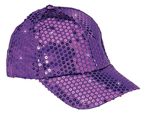 Sequin Baseball Cap - The Paragon Baseball Cap for Women - Gold Sequin Hat, Adjustable Strap Ball Cap, Bling Hat for Women and Girls (Purple)