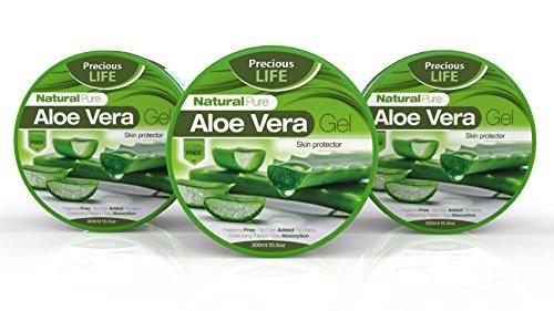 Meilleur naturelle Pure Aloe Vera Gel pour cheveux visage peau & hydratant pour le corps pour apaisant Sunburn ultraviolette les piqûres Anti vieillissement & après Gel à raser par Precious Life