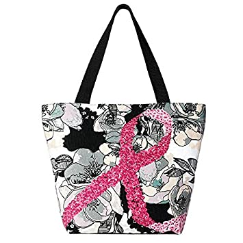 Amazon.com : Avon Breast Cancer Floral Tote Bag : Beauty