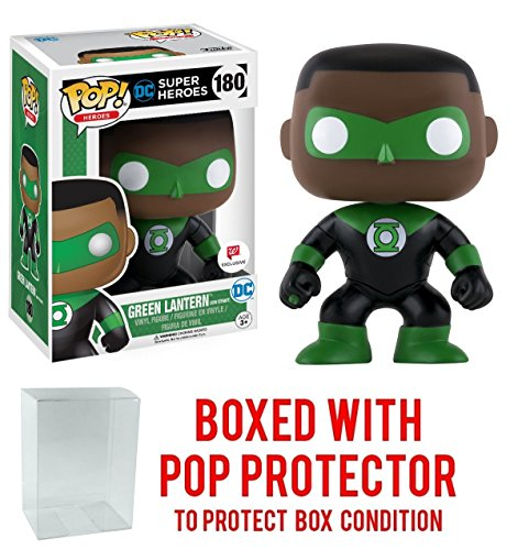 Funko Pop! DC Super Heroes Green Lantern (John Stewart) Walgreens Exclusive Vinyl Figure Bundled with Free Pop BOX PROTECTOR CASE