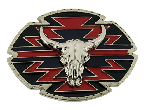Bull Chopper Belt Buckle Multicolored Unisex Western Texas Style - Chopper Buckle
