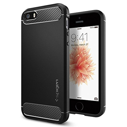 IPhone-SE-Case-Spigen-Rugged-Armor-Resilient-Black-Ultimate-protection-from-drops-and-impacts-for-Apple-iPhone-SE-5S-5-041CS20167
