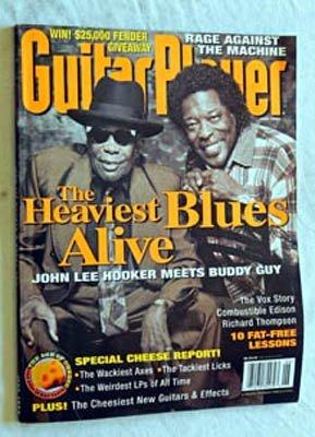 Guitar Player Magazine June 1996 - VERY RARE Grade 9.2 - John Lee Hooker - Buddy Guy - Tom Morello Rage Against The Machine - Richard Thompson Fairport Convention