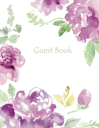 Guest Book: Very Lovely Color-Filled Guest Book Large 8.5 x 11 with Photo Windows and Lined pages Graced with Exquisite Art Guest Book for Parties for ... Book in All Departments in Office Products