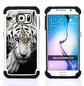 BullDog Case - FOR/Samsung Galaxy S6 G9200 / - / FEROCIOUS TIGER ANIMAL CUTE SLEEPY /- H??brido Heavy Duty caja del tel??fono protector din??mico - silicona suave