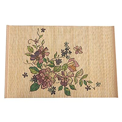 Marscool Placemat for Kitchen Table,Bamboo Placemat Stain-Resistant,Heat-Resistant Placemats Set of 4,Natural Bamboo Material,Table Mats and Dine Mats for Dining Table,Six Model Choice (Pink) - A really healthy placemat is the bamboo placemat: Placemats direct contact with food, so the healthful material is the most important. We use natural bamboo of more than five years, which has nothing harmful to the human body. Our placemats are non-toxic and odorless, allowing you to enjoy the delicious food safely with bamboo placemats. Multifunctional bamboo table mats: As a placemat, it can be used not only as a bamboo table mats, but also as a western-style food table mats. The combination of Chinese bamboo table mats and western food have special feeling. Bamboo is also good for thermal insulation, so it can also be used as heat-resistant placemats and stain-resistant placemats.  Special treatment on the surface, just use bamboo dining mat without worry: Our special treatment on the surface of the bamboo dining mat makes it more oil resistant and easy to clean up the dirt. Additional carbonization makes the placemat not easy to discolor. It is also better to prevent it from being damaged by worms. - placemats, kitchen-dining-room-table-linens, kitchen-dining-room - 51OYNt6urBL. SS400  -