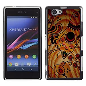 Graphic4You Birds Painting Pattern Design Hard Case Cover for Sony Xperia Z1 Compact (Mini)
