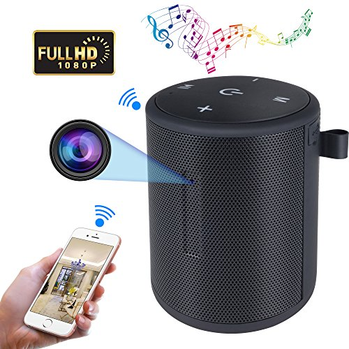 Bluemila WIFI Hidden Camera Speaker HD 1080P Spy Camera Wireless Hidden Mini Nanny Cameras With