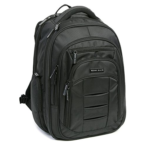 51OYOZEhlGL - Perry Ellis M150 Business Laptop Backpack, Black