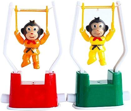 2 piezas de creativo cuerda a un juguete divertido gimnasia mono tirón de los juguetes para los niños de color aleatorio: Amazon.es: Juguetes y juegos