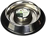 Iconic Pet Slow Feed Stainless Steel Pet Bowl for Dog or Cat (2 Pack), Large/48 oz