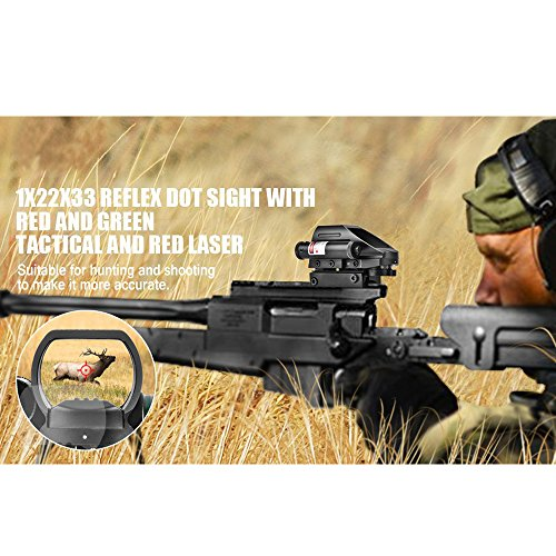 4-Holographic-Reticle-Dot-Sight-with-Red-Laser-sight-Combo-for-20mm-Weaver-Picatinny-Rail-Mount-get-1-Free-M-Series-Gun-Mount