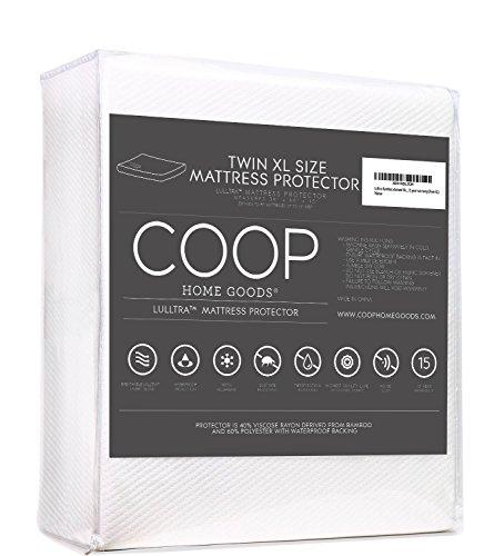 Coop Home Goods Twin Extra Long (XL) Lulltra Soft Touch Mattress Protector - Cooling Waterproof Hypoallergenic Mattress Topper-15 Year Warranty