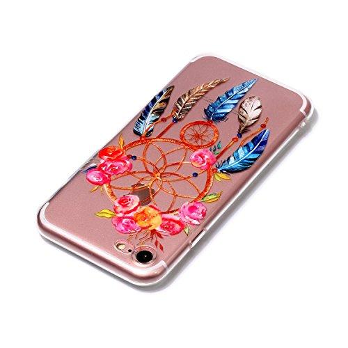 iPhone 7 Coque Attrapeur de rêves Premium Gel TPU Souple Silicone Transparent Clair Bumper Protection Housse Arrière Étui Pour Apple iPhone 7 + Deux cadeau