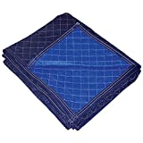 Forearm Forklift PP-109-80LT 72'''' x 80'''' Non-Woven Economy Moving Pad (12 Pack), 72'''' x 80'''', Blue/Blue