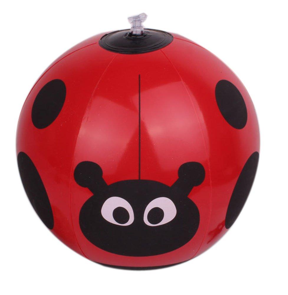 Ladybird Pattern Children Water Balls Diameter 25cm //Red