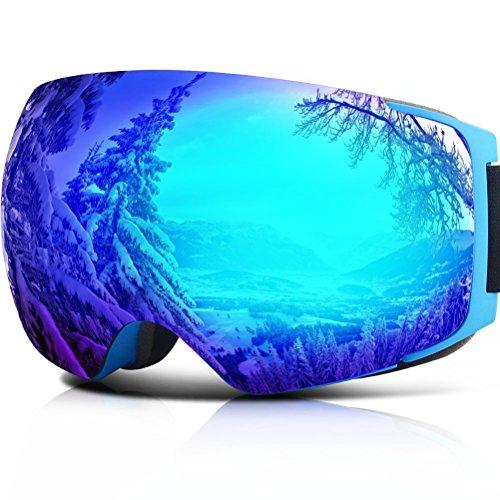 - YAKAON Y Series Ski Goggles Snowboard Frameless Spherical UV Protection Anti-fog Lens for Men Women