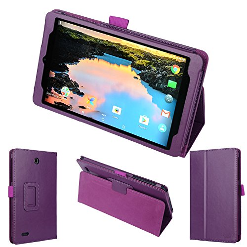 wisers Alcatel A30 TABLET 8 T-Mobile 8-inch Tablet Case/Cover, Purple