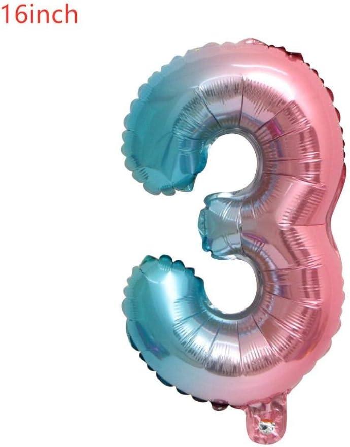 Joyeux anniversaire feuille d/'aluminium ballons ronde fête de mariage Decor