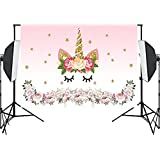 Qintec Birthday Backdrop Photo Background Vinyl Backdrops for Photography Studio Party 7x5ft unicorn