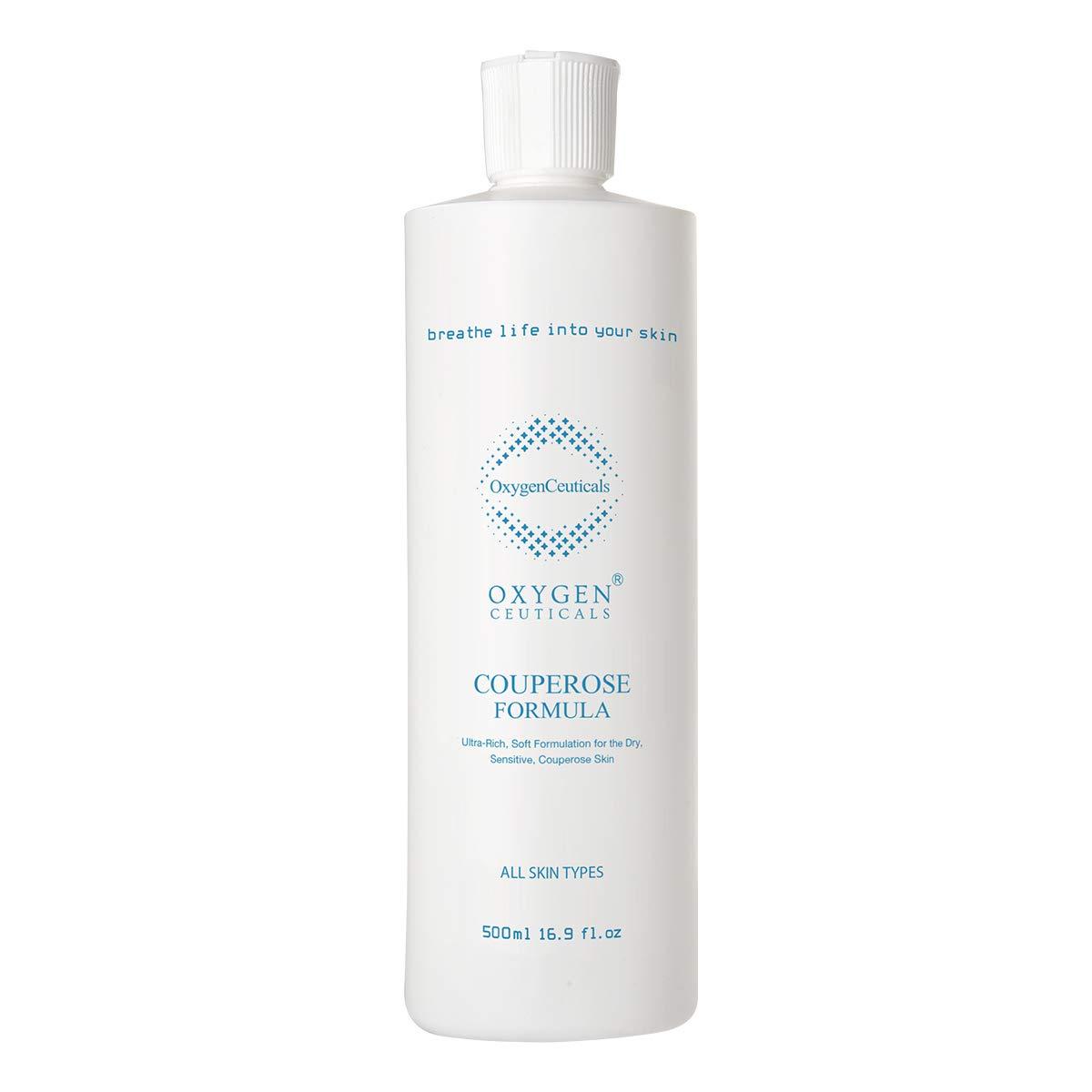 OxygenCeuticals Couperose Formula, 500 ml/1.69 oz, Oxygen Facial Liquid Based Face and Neck Serum, For Sensitive Skin