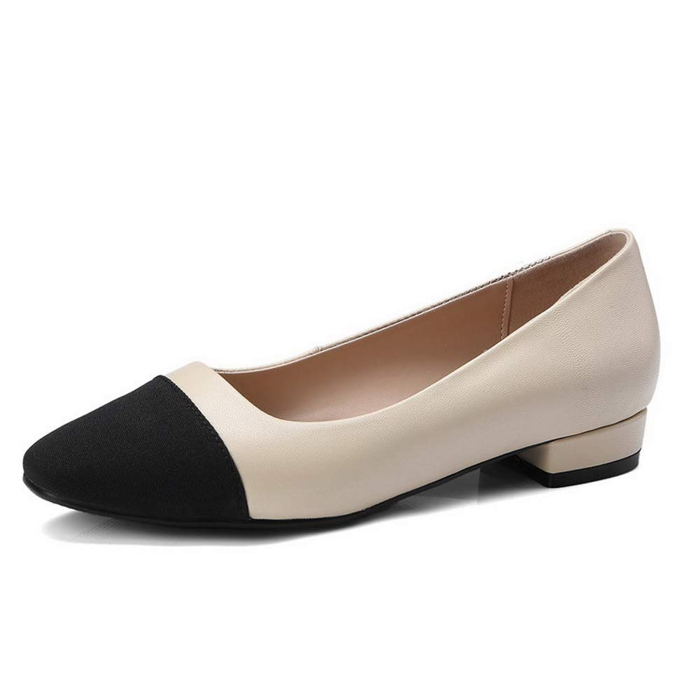 BalaMasa Womens Assorted Colors Travel Structured Leather Pumps Shoes APL10937