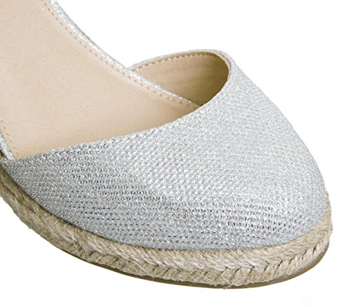 Toe Lurex Espadrilles Silver Mamacita Office Closed zqpXEaa