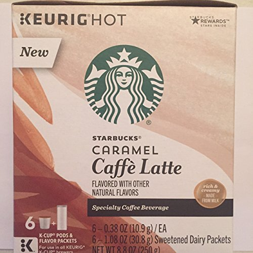 Starbucks - K Cups 6 ct - Caramel Caffe' Latte - ( Pack of 2 )