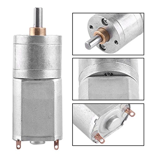 DC 12V Electric Gear Motor High Torque Speed Reduction Motor 15 / 30 / 100 / 200 RPM with Centric Output Shaft 4mm Dia for RC Car Robot Model DIY Engine Toys (200 RPM)