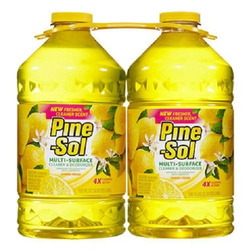 pine-sol-2-pk-multi-surface-disinfectant-lemon-scent-total-of-200-oz-