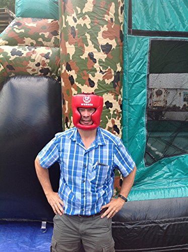 Replacement Red Boxing and Jousting Helmet and Headgear with Reinforced Seams for Interactive Inflatable Fighting Arena or Ring Games, Universal Size by TentandTable (Image #5)