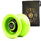YoYo Factory Velocity YoYo - Quality Pro Responsive/ Unresponsive Yo-Yo with String and Cascade Juggling Bag (Green) by Yo Yo Factory