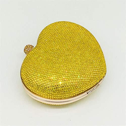 Joy Cristal de de Sac Yellow en à Red Mariage en Forme Color Miss pour Femme Coeur pour Main discothèques dXw8Aq
