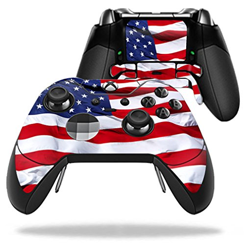 MightySkins Protective Vinyl Skin Decal for Microsoft Xbox One Elite Wireless Controller case wrap cover sticker skins American Flag