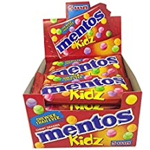 Mentos Kidz with Natural Colors, Classic Fresh Mixed Flavored, 250g ( 12 Packs )
