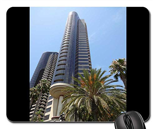 Mouse Pads - San Diego California City Metro Buildings Modern
