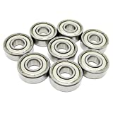 Zoty Inline Skate Replacement Bearings ABEC-7 Grade 608ZZ Bearings for Scooter Pack of 8 pcs