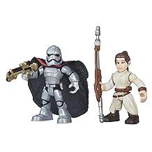 Playskool Heroes Galactic Heroes Star Wars Resistance Rey (Jakku) & Captain Phasma