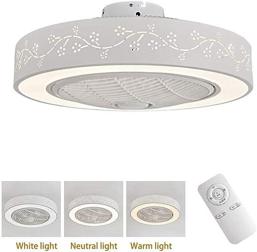 ZDXR Lámpara LED de Techo Ventiladores para el Techo con lámpara ...