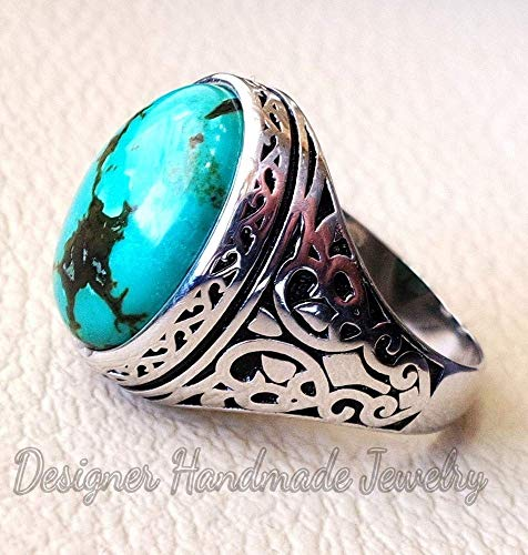 USA Seller Heart Ring Sterling Silver 925 Best Jewelry Selectable Turquoise