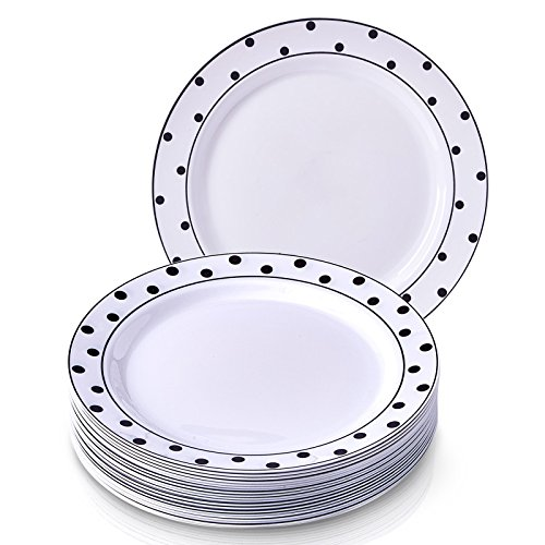 DISPOSABLE PLASTIC DINNER PLATES 10.25