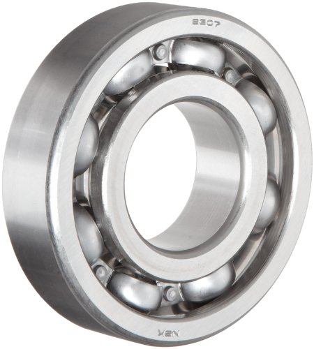 NSK 6306 Deep Groove Ball Bearing, Single Row, Open, Pressed Steel Cage, Normal Clearance, Metric, 30mm Bore, 72mm OD, 19mm Width, 9500rpm Maximum Rotational Speed, 3372lbf Static Load Capacity, 6002lbf Dynamic Load Capacity