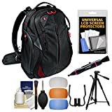Manfrotto Pro Light Bumblebee-130 DSLR Camera Backpack with Flash Filters + 58'' Photo/Video Tripod + Kit