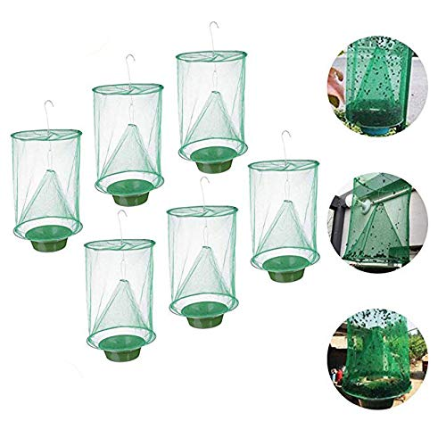 genmaighou 2019 New Ranch Flying Trap Outdoor, Effective Trap Eternal Fishing Gear and Food Decoy Plunder Capturer Indoor or Outdoor Family Farm, (6PC)