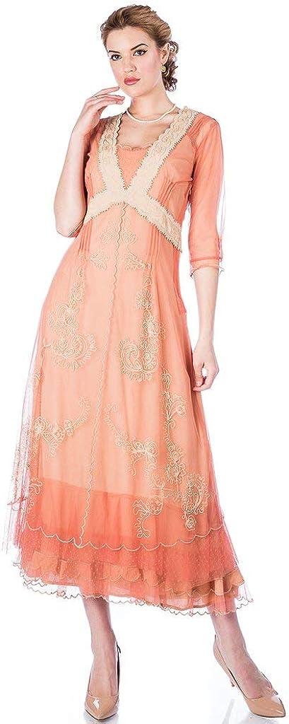 Nataya 40701 Women S Titanic Vintage Style Wedding Dress In Rose Gold At Amazon Women S Clothing Store