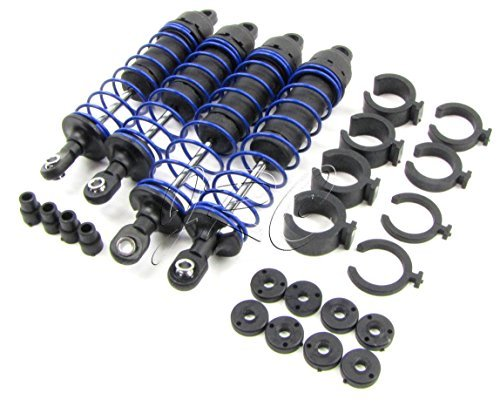 Skully/Craniac SHOCKS w/ BLUE springs (set of 4 dampers & coils Traxxas 36064-1)