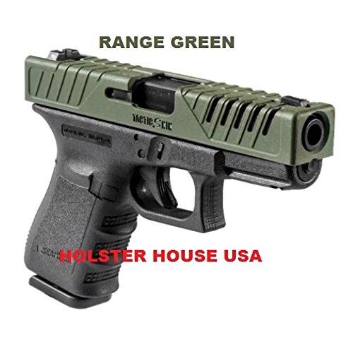 (Holster House Usa Tactic Skin Fab Defense Fits Glock 17 Slide Cover Range Green 17, 22, 31, FAB Defense)